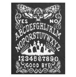 Ouija Board Skull Moth Black Blanket
