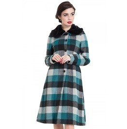 Voodoo Vixen Beatrice Woolly Check Coat