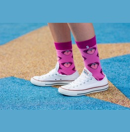 Colorful Socks Pink Mouth