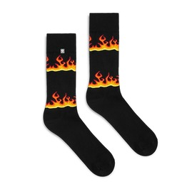Black Socks With Hot Fire, Flames