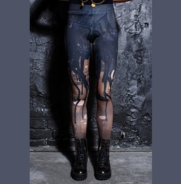 Black Gothic Melting Leggings