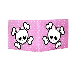 "Inevitable Wallets ""Darling Pink"" Bones Bi Fold Wallet"