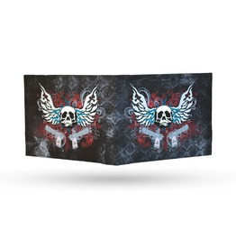 "Inevitable Wallets ""Threat"" Bones Bi Fold Wallet"