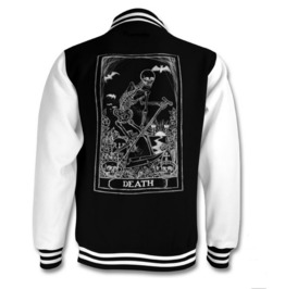 Death Tarot Card Varsity Jacket