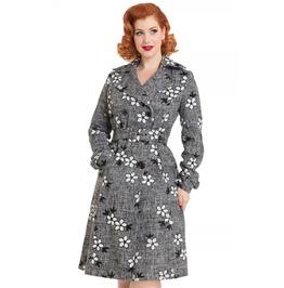 Voodoo Vixen Marjorie Grey Floral Jacket