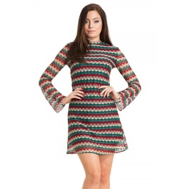 Voodoo Vixen Edie 60s Stripe Dress