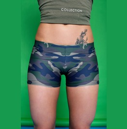 Green Camo Shorts