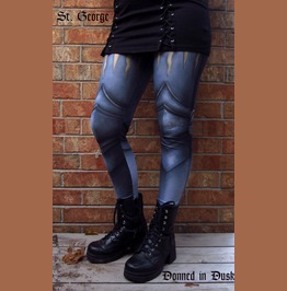 Armour Leggings From Donned In Dusk Gothic Medieval Fashion Pants Men Women