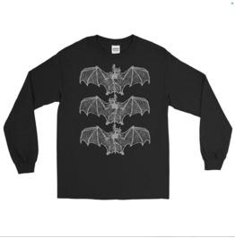 Bat Bones Long Sleeve T Shirt