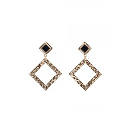 Voodoo Vixen Gold Square Earrings