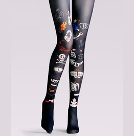 Women Colorful Printed Street Wear Tight Leggings P5