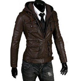 New Men Hooded Latest Winter Leather Jacket, Men Leather Jacket, Leather