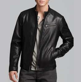 Mens Fashion Black Color Leather Jacket, Men Biker Leather Jacket