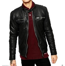 Mens Biker Leather Jacket, Men Fashion Black Leather Jacket, Men Jackets