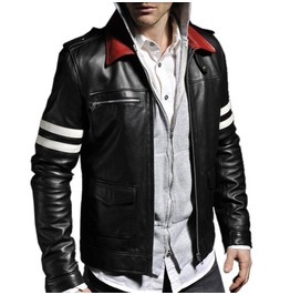 Men Alex Mercer Stylish Embroidery Leather Jacket Mens Fashion Leather Jack