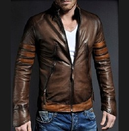 Men Stylish Retro Motorcycle Leather Jacket, Men Genuine Leather Fashion