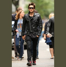 Jared Leto Leather Jacket, Black Biker Jacket, Motorcycle Leather Jacket