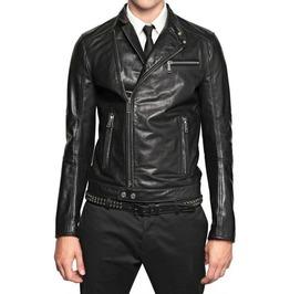 Mens Slim Fit Leather Jacket , Mens Leather Jacket, Slimfit Leather Jacket
