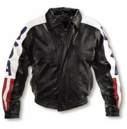 Michael Hoban Wheremi Jacket With Usa American Flag Jacket