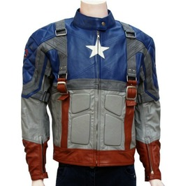 New Captain America The First Avenger Leather Jacket, Movie Leather Jacket