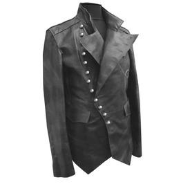 Men Real Leather Jacket, Men Steam Punk Jacket Coat Men Leather Coat Jacket