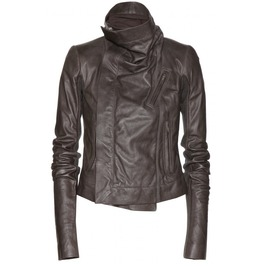 Women Brown Wide Collar Leather Jacket, Women Fashion Leather Jacket