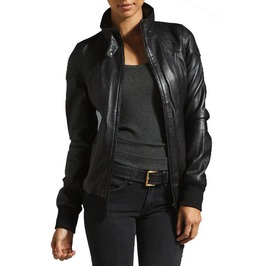 New Handmade Women Hooded Leather Jacket, Women Leather Jackets, Fashion