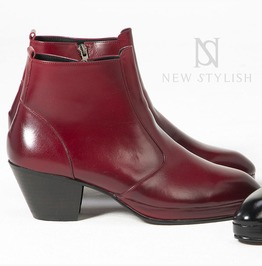 Simple Leather High Heel Boots 405