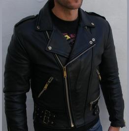 Men Black Color Biker Leather Jacket, Motorbike Leather Jacket