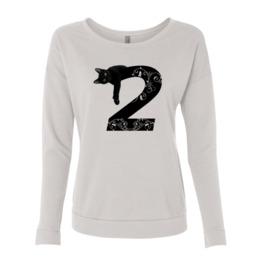 Black Cat Women Sweatshirt