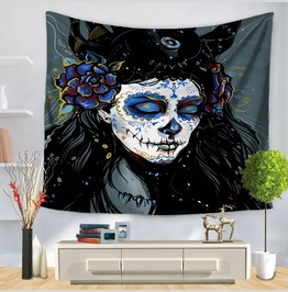 Unique Skull Print Wall Tapestries D31