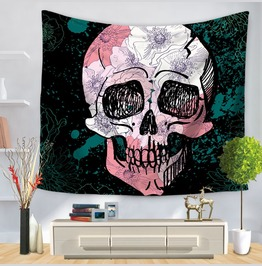 Unique Skull Print Wall Tapestries D45
