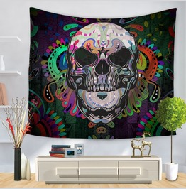 Unique Skull Print Wall Tapestries D46