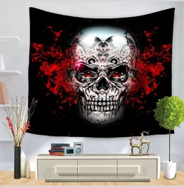 Unique Skull Print Wall Tapestries D49