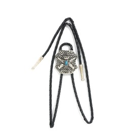 Western Leather Vintage Tie Clip Totem With Turquoise Gem