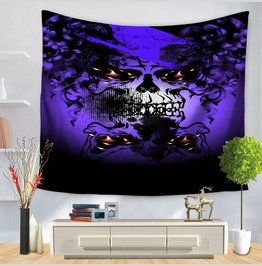 Unique Skull Print Wall Tapestries D50