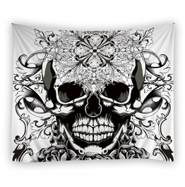 Unique Skull Print Wall Tapestries D51