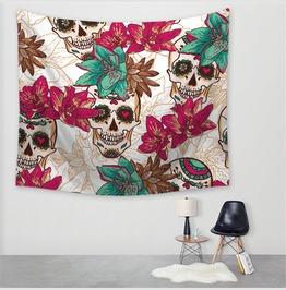 Unique Skull Print Wall Tapestries D55