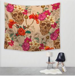 Unique Skull Print Wall Tapestries D57