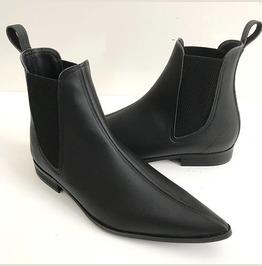 Handmade Mens Fashion Black Color Chelsea Boots, Men Black Leather Boots