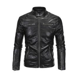 Black Punk Motorcycle Men Jacket