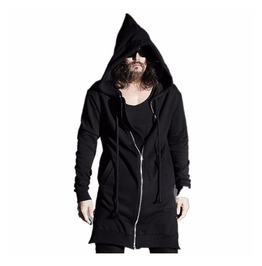 Avant Garde Punk Rock Zipper Pointed Men Hoodies Sweatshirt