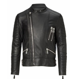 New Black Leather Biker Leather Jacket, Men Fashion Highway Jacket For Men