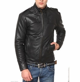 Mens Biker Leather Jacket, Men Fashion Black Leather Jacket, Men Jacket