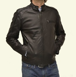 New Men Biker Leather Jacket, Men Fashion Motorcycle Black Leather Jacket