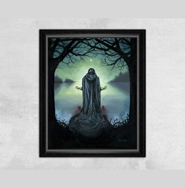 The Promise Of Death Dark Suicidal Occult Art Print
