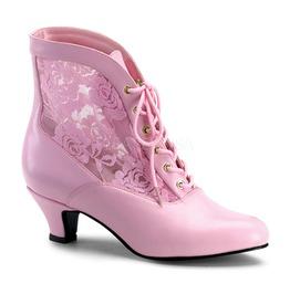 Victorian Steampunk Bridal Pink Boots ( Funtasma Dame 05 )