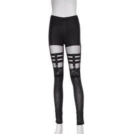 Gothic Black Serpentine Lace Tights For Women