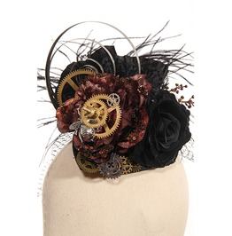 Gothic Black Women's Mechanical Headpiece