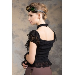 Steampunk White Women's Drop Sleeve Top